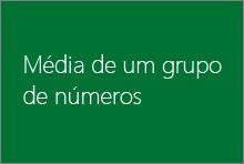 Média de um grupo de números