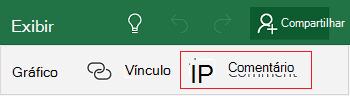 Adicionar um comentário no Excel Mobile para Windows 10