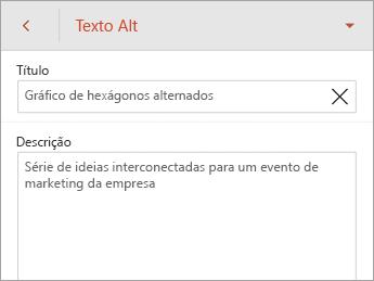 Comando Texto Alt na guia SmartArt