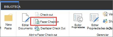 seleção de documento na dica de ferramenta e botão