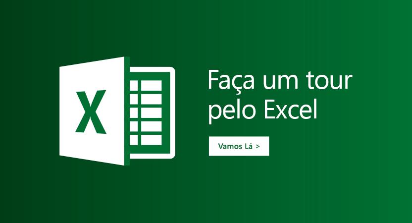 """Modelo """"Fazer um tour"""" para Excel"""