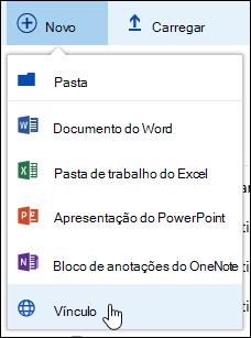 Adicionar um link a uma biblioteca de documentos