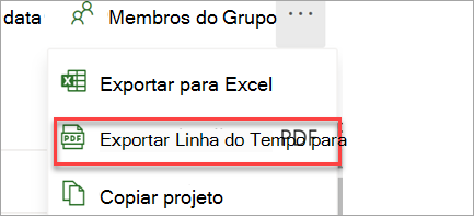 Exportar para PDF