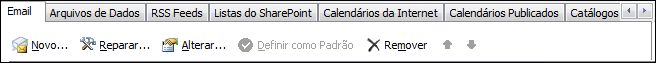 Outlook 2010, Adicionar Nova Conta