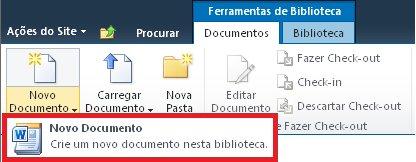 Adicionando um novo documento a uma Biblioteca de Documentos