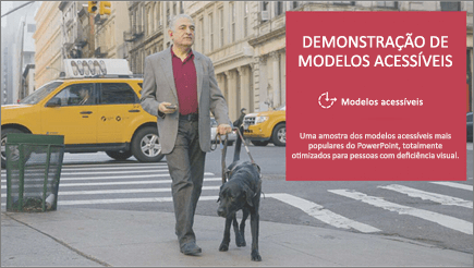 Um deficiente visual caminha acompanhado de um cão guia