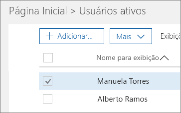 Escolha o usuário que você deseja bloquear