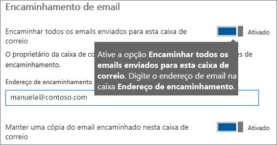 Adicione o endereço de email do funcionário atual.