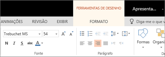Formatar texto