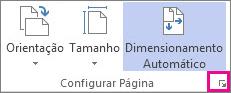 Iniciador da Configuração de Página