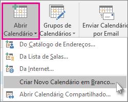 Criar um novo calendário em branco
