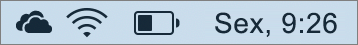 Ícone do OneDrive na bandeja de sistema do Mac