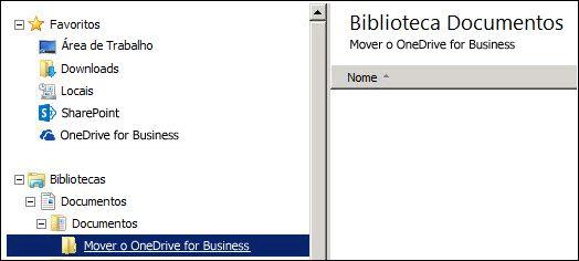 Uma pasta para preparar arquivos para serem movidos para o Office 365