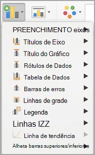 Adicionar menu de elemento gráfico