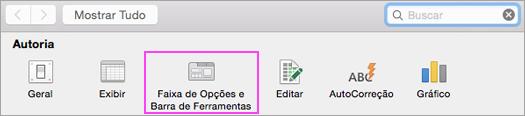 Personalize a barra de ferramentas da faixa de opções.