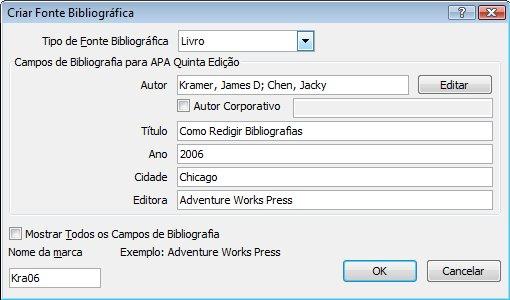 Adicionar nova fonte bibliográfica