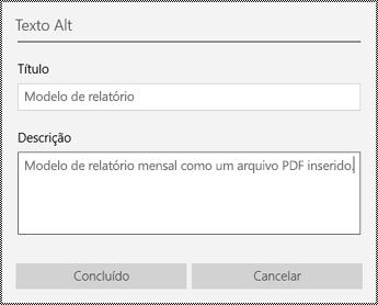 Adicionar texto Alt a arquivos inseridos no aplicativo OneNote para Windows 10