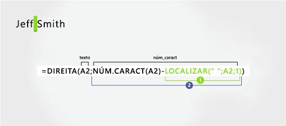Fórmula para extrair um sobrenome