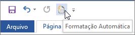 O ícone de Formatação Automática