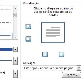 caixa visualização para mostrar as bordas da página