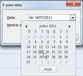 Vá para a caixa de diálogo Datas com o navegador de datas