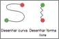 Botões da trajetória de animação Curva ou Forma Livre