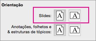 Orientação da Página no PPT para Mac