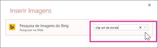 Procurar ClipArt borda em Bing