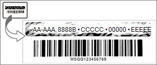 Raspe toda a camada metálica para ver a chave do produto (Product Key) do Office