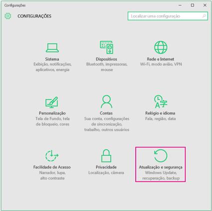 Configurar Atualizações do Windows no Windows 10