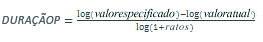 Equação de DURAÇÃOP