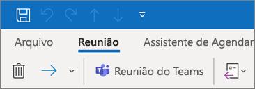 Adicionando uma reunião do Teams a um convite para reunião no Outlook