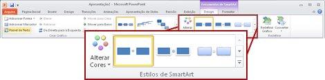 A guia Design em Ferramentas SmartArt