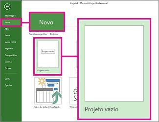 Crie uma nova imagem de botão de projeto em branco