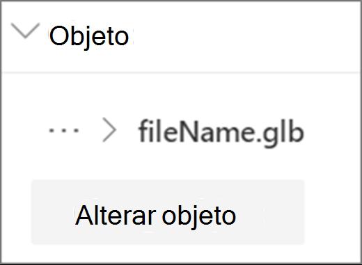 Alterar a interface do usuário do objeto