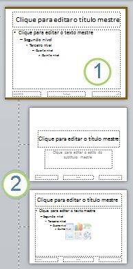 Slide Mestre com layouts