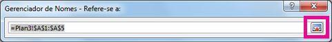 Botão Expandir Caixa de Diálogo na caixa Gerenciador de Nomes