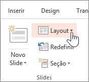 Botão de layout