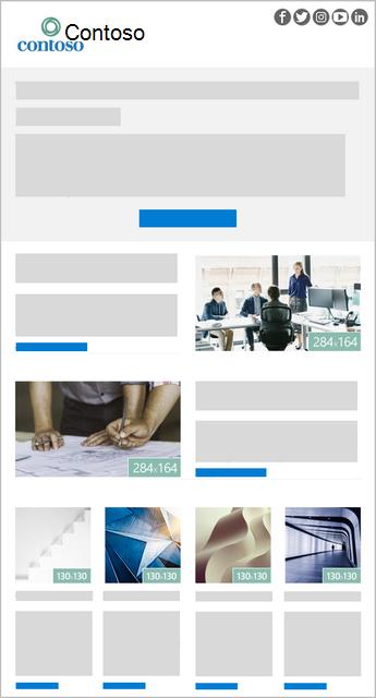 Um modelo de boletim informativo do Outlook de imagem-6
