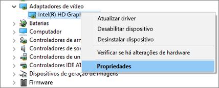 Vá para o Gerenciador de Dispositivos do Windows para gerenciar seus drivers de adaptador de vídeo.
