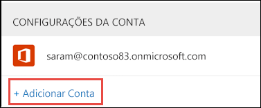 Adicionar conta no Outlook