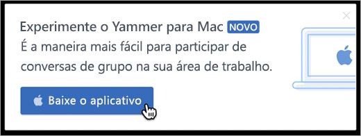 Mensagens internas do produto para Mac