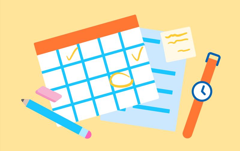 Gerencie seu tempo usando as ferramentas de aprendizagem remota.