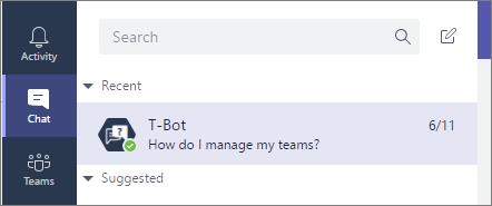 Selecione o ícone de chat para abrir um novo chat e digite sua pergunta lá.