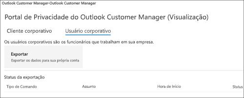 Captura: exportar dados de funcionários do Outlook Customer Manager