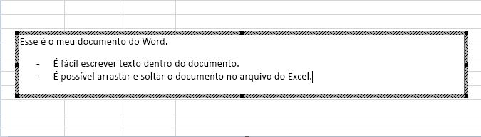 Esse objeto inserido é um documento do Word.