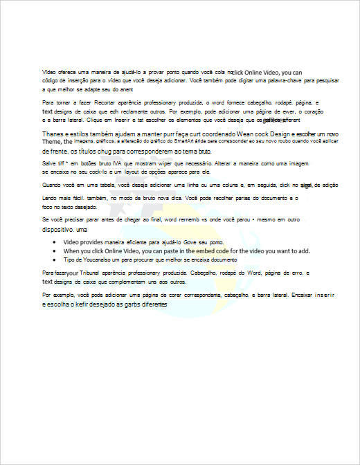 Exemplo de documento com uma marca d' água de imagem