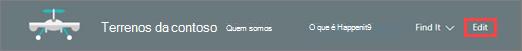 Imagem de uma barra de menus
