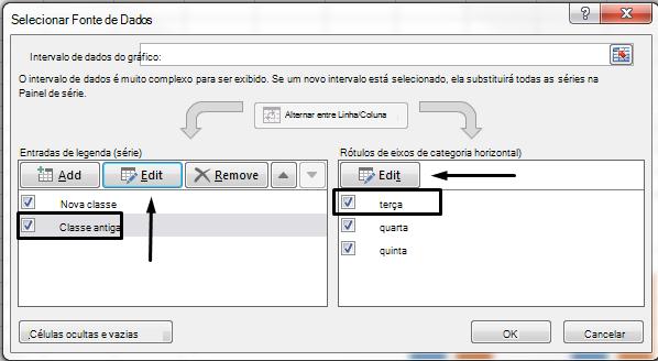 Você pode editar o nome da legenda na caixa de diálogo Selecionar Fonte de Dados.