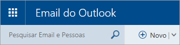 Uma captura de tela do canto superior esquerdo da caixa de correio do Outlook.com clássico